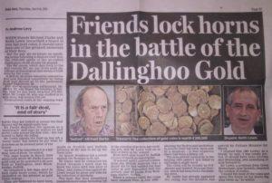 """W swoich zbiorach wycinków prasowych o odkryciach monet posiadam artykuł z """"Daily Mail"""" o wielkim skarbie złotych monet z I wieku ne."""